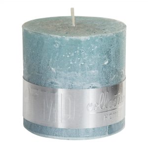 Metallic Mint Green Block Candle 10x10cm