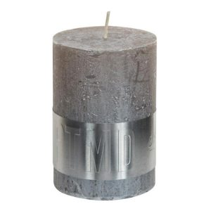 Metallic Taupe Pillar Candle 10x7cm