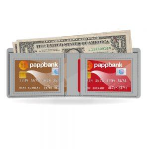 Silver Metallic Paper Wallet