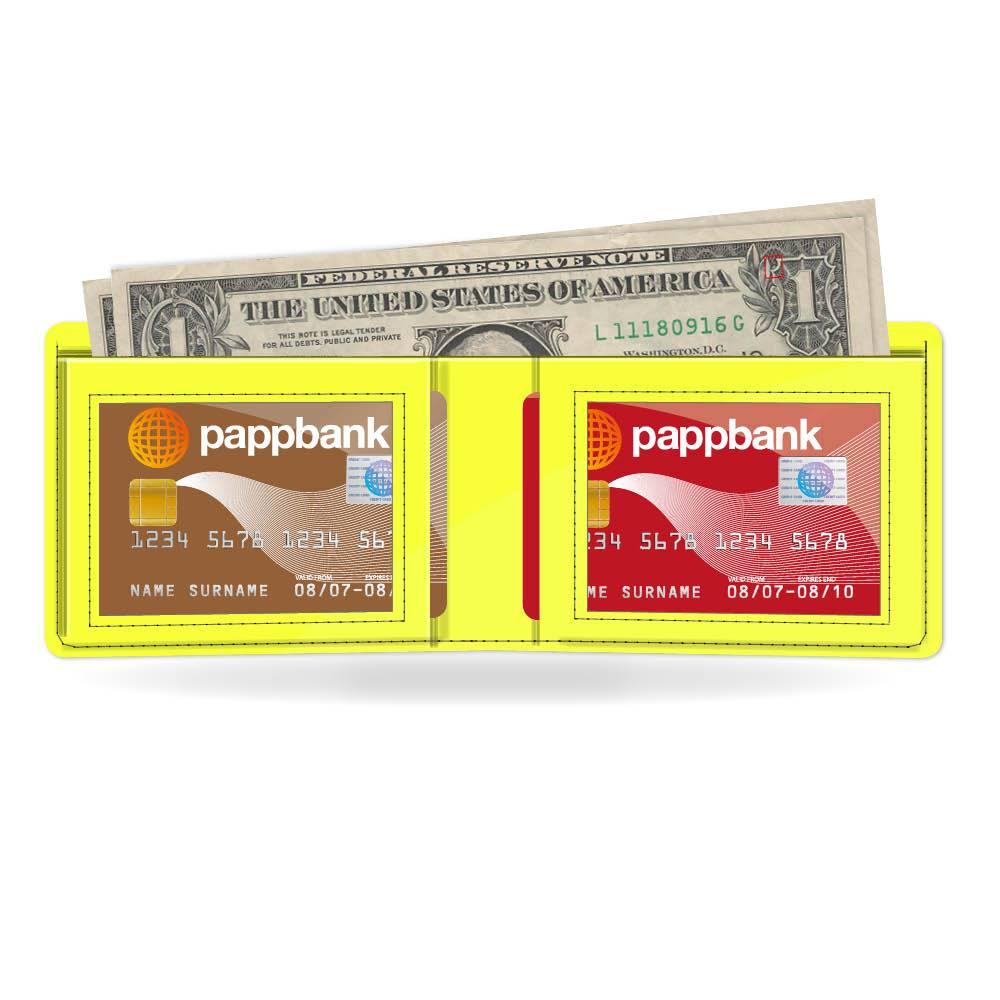 Neon Yellow Paper Wallet