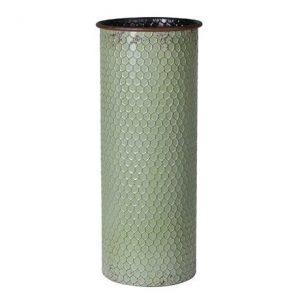 Pale Green Metal Vase
