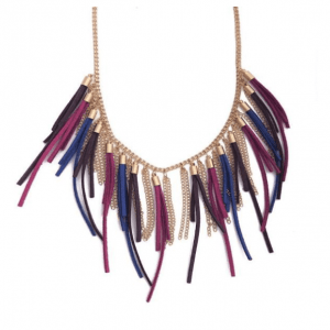 Retro Chain Multicoloured Tassel Necklace