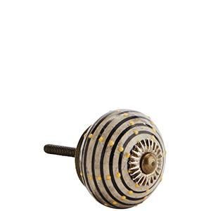 Porcelain Mixed Colour Door Knob
