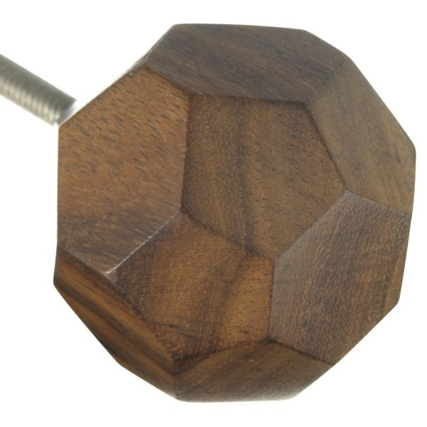 Natural Wood Geometric Design Knob
