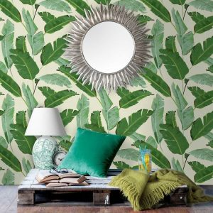Vintage Banana Leaves Wallpaper