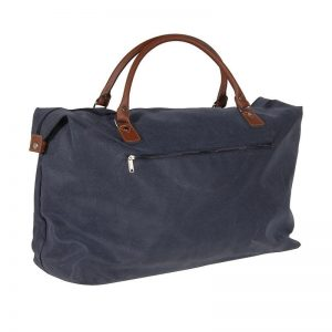 Large Blue & Tan Travel Bag