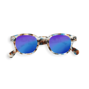 Izipizi Junior Sunglasses in Tortoise with Blue Mirrored Lenses