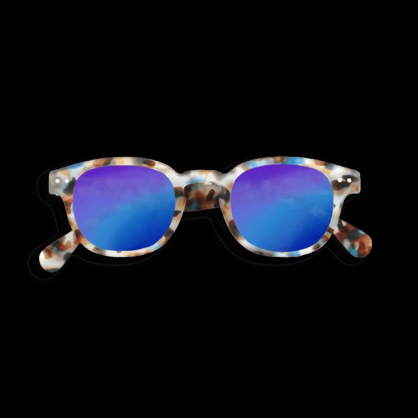 Izipizi Junior Sunglasses in Tortoise with Blue Mirrored Lenses