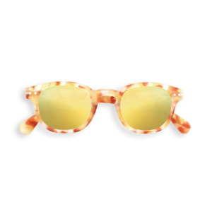 Izipizi Junior Sunglasses in Yellow Tortoise with Yellow Mirror Lenses