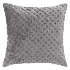 Slate Velvet Embroidered Cushion