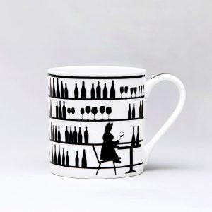 Wine Tasting Rabbit Mug
