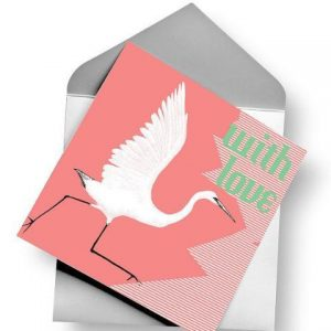 Stork Greeting Card