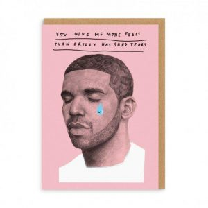 Drizzy Greetings Card