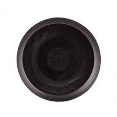 Small Waitress Metal Tray in Matt Black