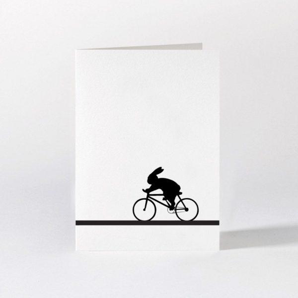 Racing Bike Rabbit Card