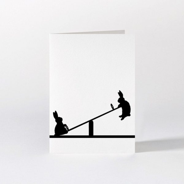 Seesawing Rabbit Card