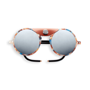 Izipizi #Sun Glacier Blue Tortoise Soft Brown Shields with Mirror Lens Cat 4