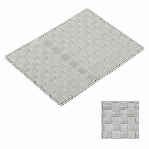 Easy Wipe Basket Weave Placemat Grey